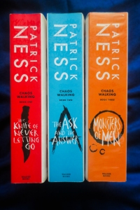 Chaos Walking trilogy by Patrick Ness Spine - Bookbed