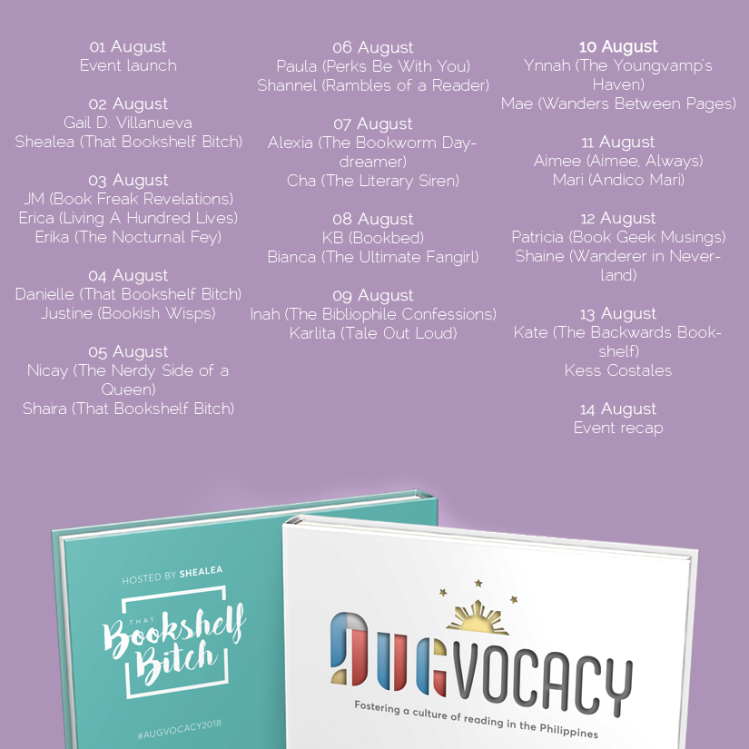 #Augvocacy2018 Augvocacy Schedule - Bookbed