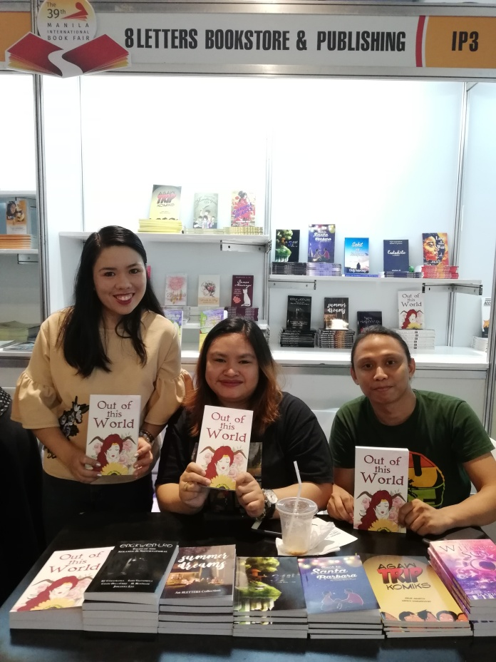 Authors at the 8Letters booth
