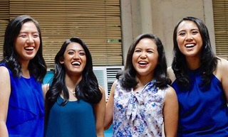 Angeli (far left) with her med school friends
